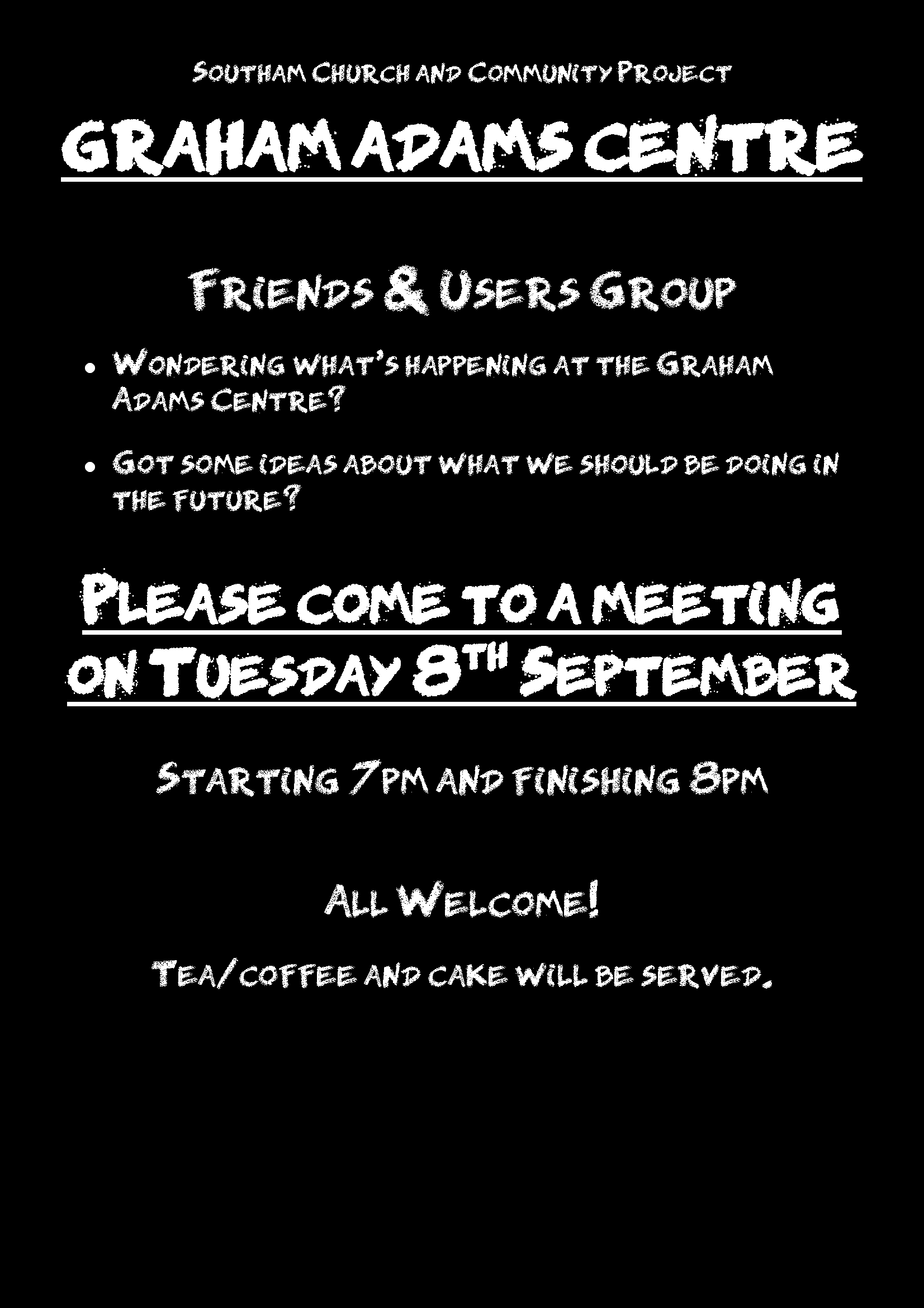 Friends and Users Group Meeting Details