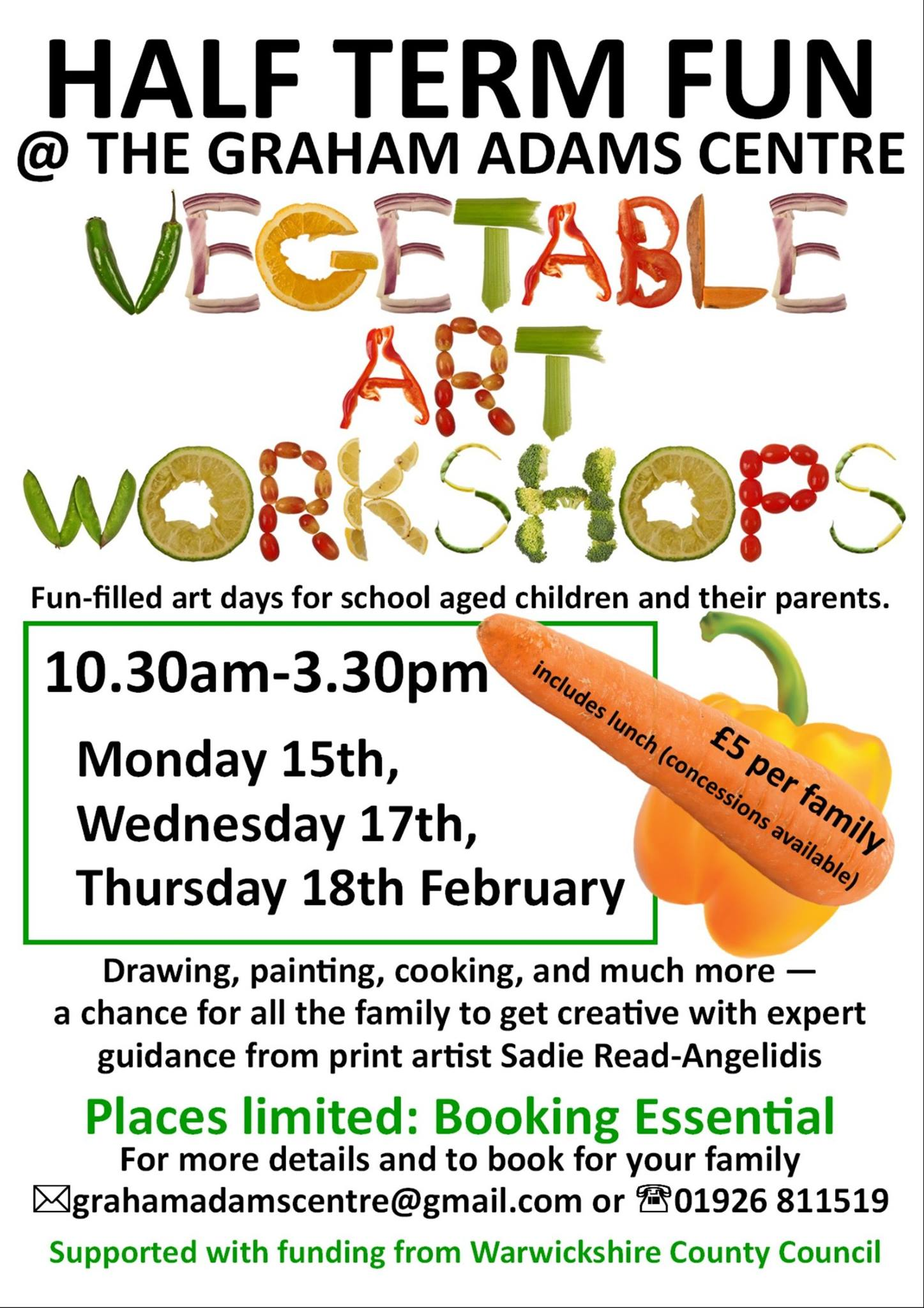 Vegetable Art Workshops