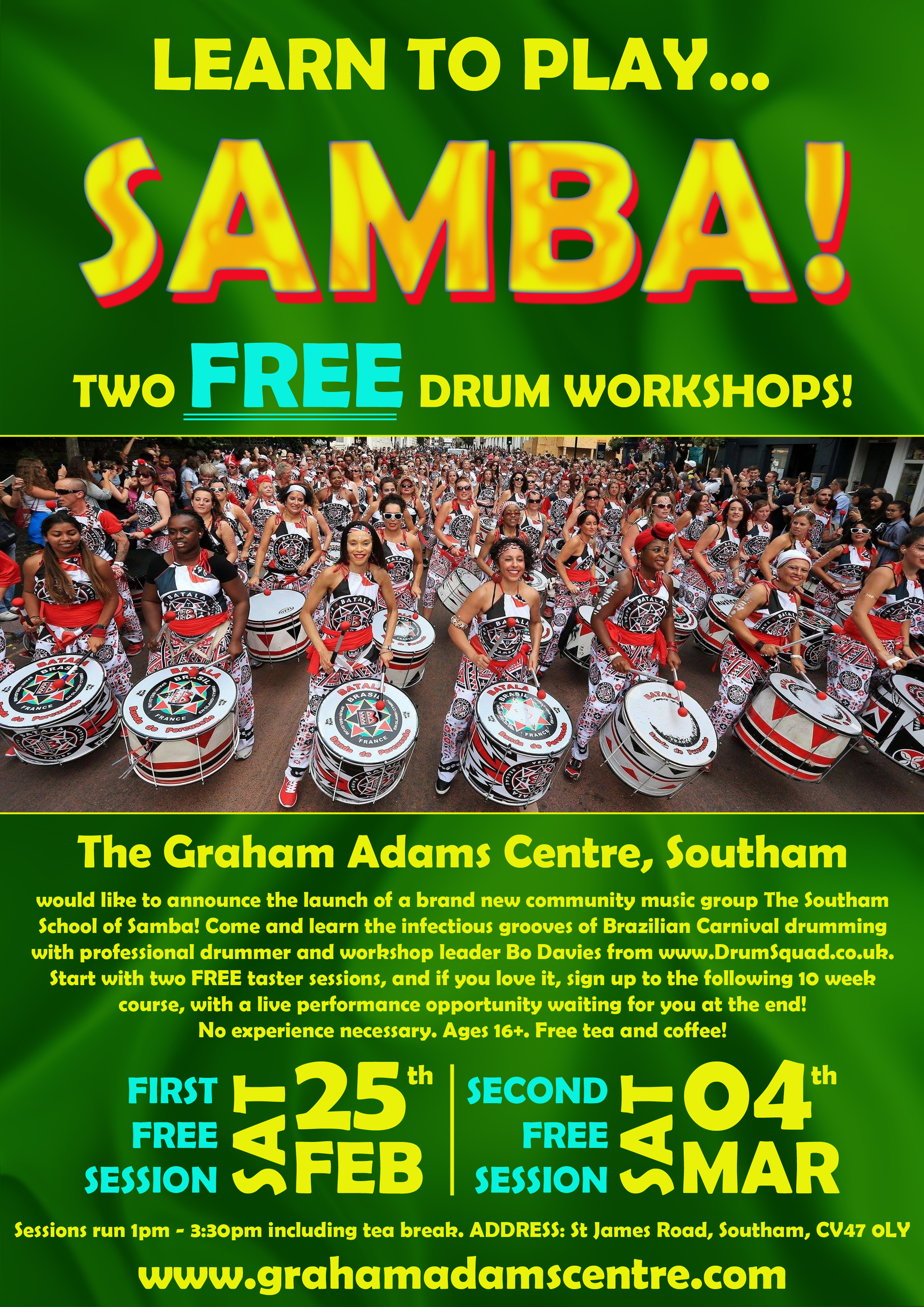 (AMMENDED) Samba A4 Launch Poster